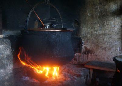 Käse Herstellung Alp Tuffsteini